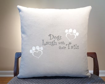 Dog Pillow, Pet Pillow, Dog Decor, Pet Decor, Dog Laugh, Dog Paw Decor, Dog Paw Pillow, Cute Dog Decor, Dog Gift, Home Living, Home Decor