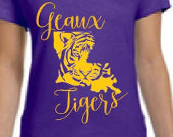 Geaux Tigers T-Shirt LSU Woman