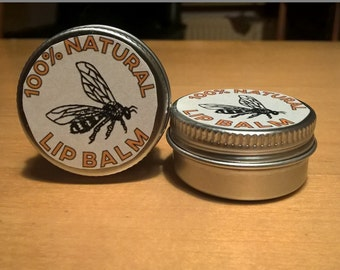 100% natural lip balm
