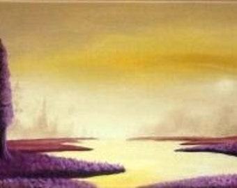 Morning mist Acrylic painting