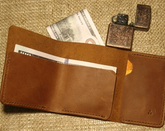 Wallet, leather wallet, Mens wallet, Mens leather wallet, sleek wallet, Leather purse Doshch#333