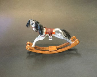 Wooden rocking horse,miniature rocking horse,
