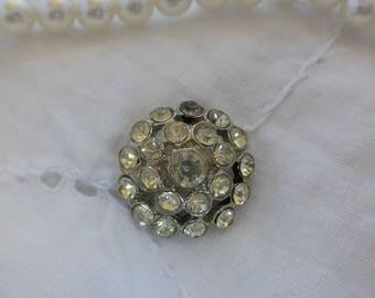 Vintage Rhinestone Button