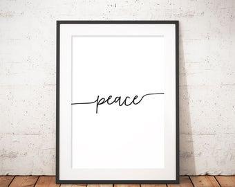 Printable Wall Art, Wall Art Print, Instant Download, Printable Quotes, Home Decor, Motivational Art, Printable Art, Peace