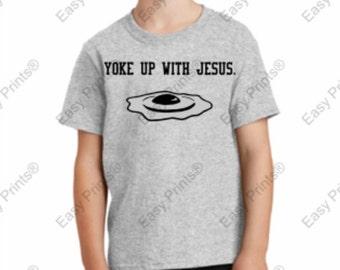 Yoke Up With Jesus tee