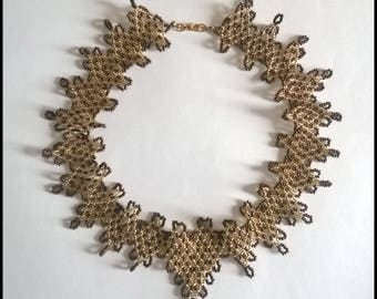 Bronze and gold necklace-Baroque