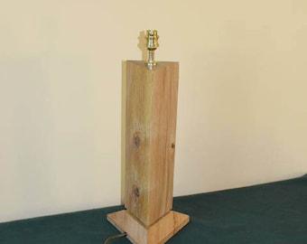 Solid Oak Wood TriangularTable Lamp