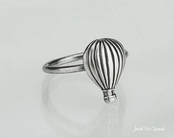 Sterling Silver Hot Air Balloon Ring Solid .925 Rings Custom Sizes