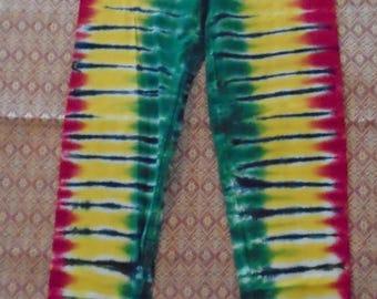 Ladies' M Tie-Dyed Rasta Leggings FRESH!
