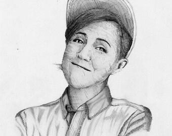Hannah Hart Realism Drawing