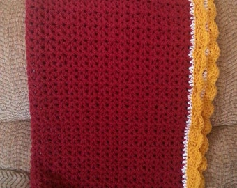 Crochet Baby Blanket- Crochet Lap Afghan- Crochet Throw- Baby Blanket Crochet