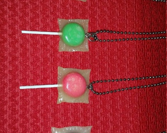 Wrapped Lollipop Necklace *Free Shipping*