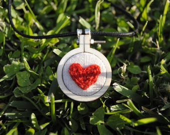 Hanging heart #1 embroidery