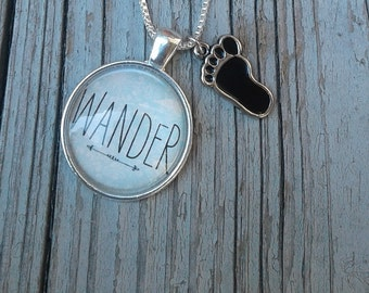 Wander Necklace with Charm