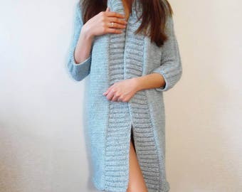 Hand Knitted Wool Cardigan