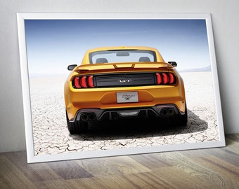 Mustang Art Mustang Poster Mustang Photo Mustang Wall Art Mustang Wall Decor Mustang GT Muscle Car Top Gear Fast Car Super Sport Cars Poster
