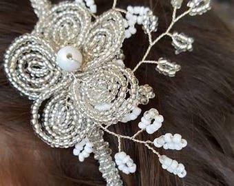 Headband beads wedding Bridal jewelry