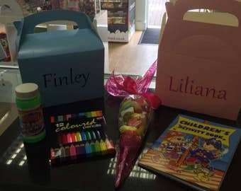 Personalised Childrens Activity Box