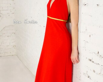 Red Dress, Red Party Dress, Long Evening Dress, Long dress, Party dress, Cocktail dress, Elegant dress, Maxi dress, Evening Dress