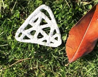 Ceramic triangle cup coaster  Handmade
