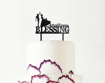 Wedding Cake Topper, Cake topper wedding, Cake Topper Custom, Unique Wedding Cake Toppers, Wedding cake decoration, Wedding Gift