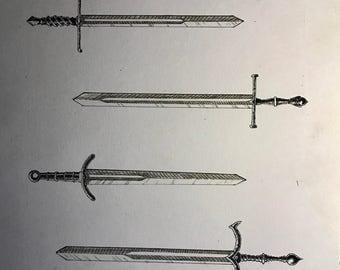 Swords Illustration, Pen and Ink