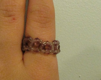 Simple beaded ring