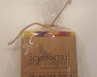 Oklahoma Gold Olive Oil Soap- Scissortail Soap Co.