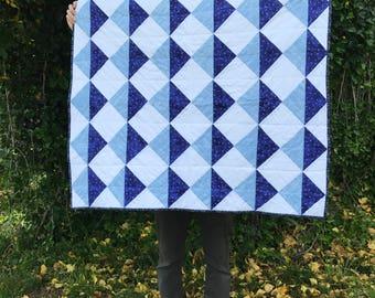 Handmade Triangle Baby Quilt