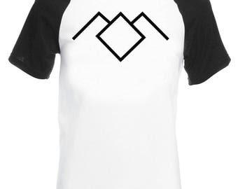 Vintage Style Twin Peaks Base Ball T-Shirt BLACK LODGE