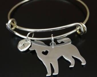 Husky Bracelet, Husky Bangle, Husky Charm, Husky Pendant, Husky Jewelry, Husky Mom, Husky Lover, Husky Gift, Siberian Husky, Husky Grandma