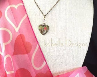 Gold Plated Brass Heart Necklace