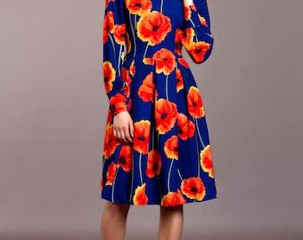 Cornflower blue dress, Floral summer dress,  summer dress, floral gypsy Dress, bohemian dress, boho chic, boho dress,  summer vacation dress