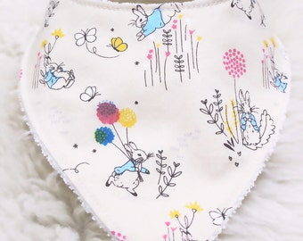 Peter Rabbit Dribble Bib / Made using 100% cotton and Bamboo terry towelling / choose your favourite