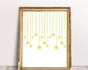 Twinkling Stars Art Print - Instant Download