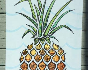 Live Different - Pineapple Painting