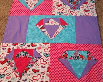 Diamonds and Hearts Quilt