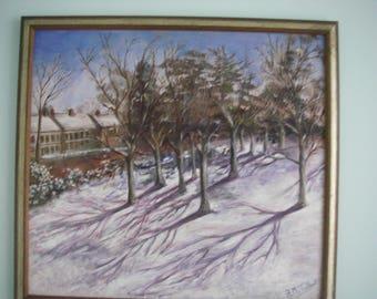 "Amazing painting ""Gunnersbury Park in the winter"" by Adrian Talbot"