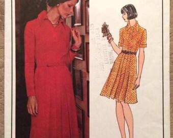 Vintage Vogue Paris Original Sewing Pattern - Christian Dior dress #2947 - vtg size 12 -- 34/26.5/36 -- used, complete