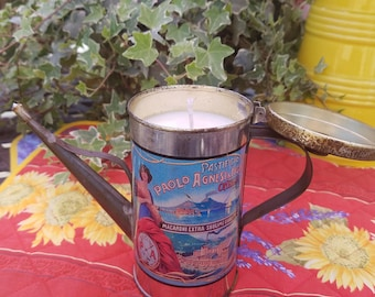 Vintage Olive Oil Can Candle