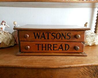 Watsons Thread Vintage Spool Box - Sewing Box