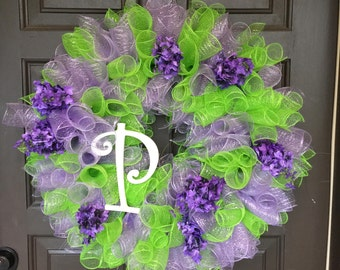 Lavender and Green Eye Catching Wreath