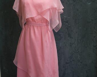 "1970s Pink ""Sandra"" Party Dress"