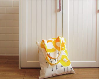 Handmade tote bag / cotton / floral / gifts for her / spring / summer /