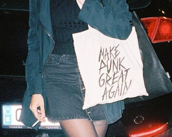 Make Punk Great Again Tote bag _Screen printed