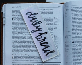 "2"" x 6"" Purple ""Daily Bread"" Laminated Watercolor Bookmark"