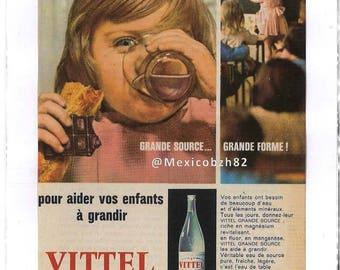Advertising 50 years water VITTEL great source... Great shape!