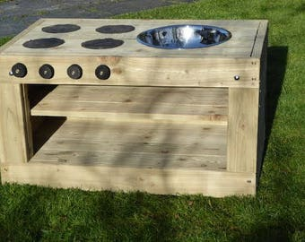 The Mud Kitchen - outdoor play | messy play | childrens outdoor fun | kids garden furniture