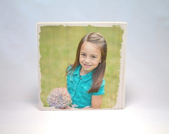PHOTO PRINT on WOOD: Your Photo Printed on Solid Wood Block, Picture on Wood, Photograph on Wood, Rustic Wood Print, Photo Gift, Custom Wood