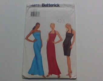 Butterick 6875, 2000 Sewing Pattern, Womens Dress, Formal Dress, Prom Dress, Party Dress, Bridesmaids Dress, Uncut, Size 6, 8, 10